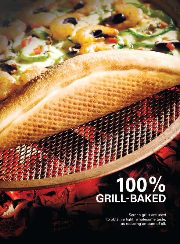 100% GRILL-BAKED